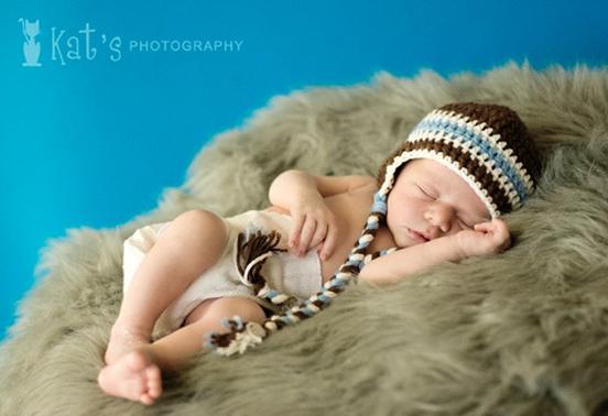 gorros de crochet para bebés 7