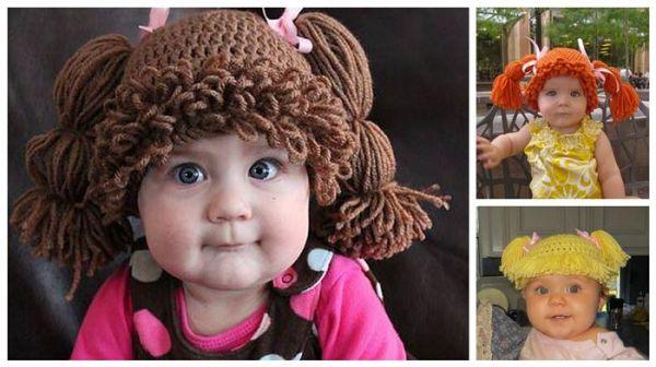 gorros de crochet para bebés 9