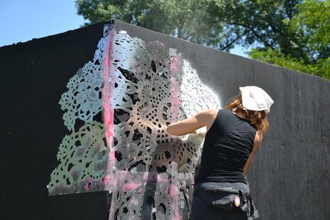 Grafitti tejido pintura