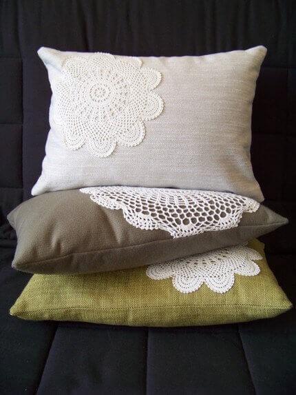 Ideas para decorar con crochet almohadones