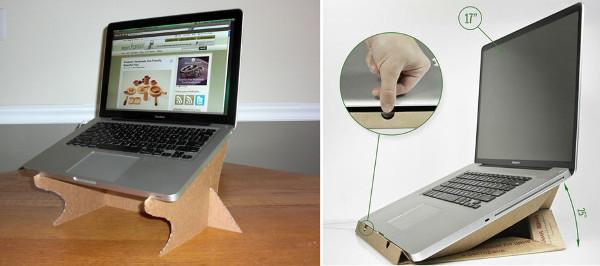 Soporte para portátil de cartón reciclado