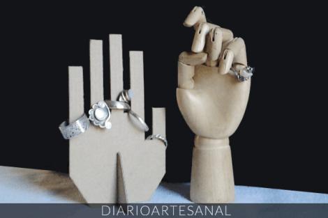 Ideas para reciclar cartón, cómo hacer un porta anillos de cartón reciclado