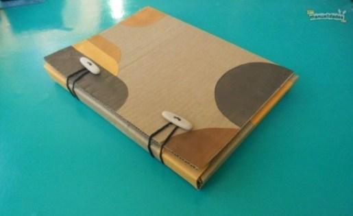 Ideas para reciclar cartón, cómo hacer una carpeta de cartón reciclado