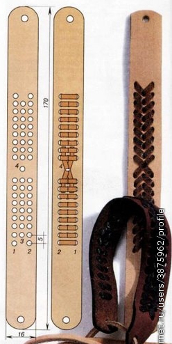 técnicas para hacer pulseras de cuero entramadas 3