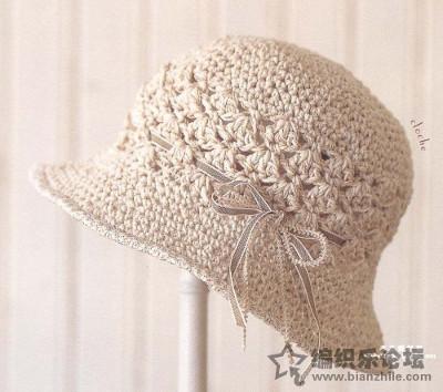 Sombrero de crochet femenino