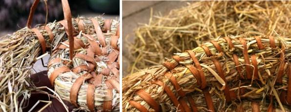 Trenzado del cesto de heno