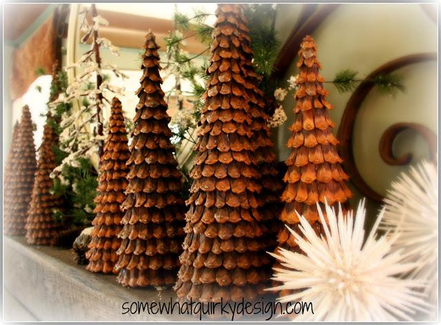 idea para hacer arboles de navidad decorativos con pias