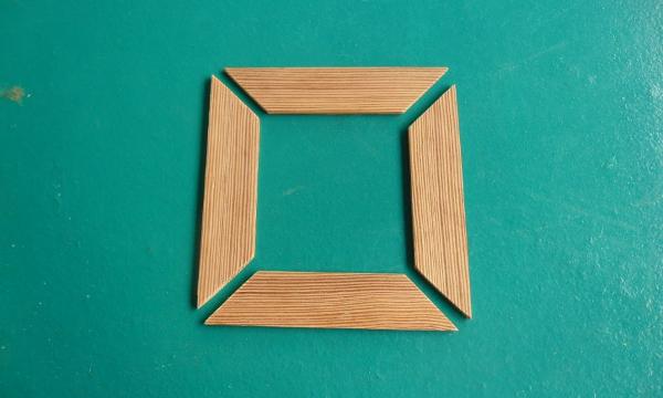 C mo hacer un marco de madera f cil con enguiletadora for Como hacer un espejo con marco de madera