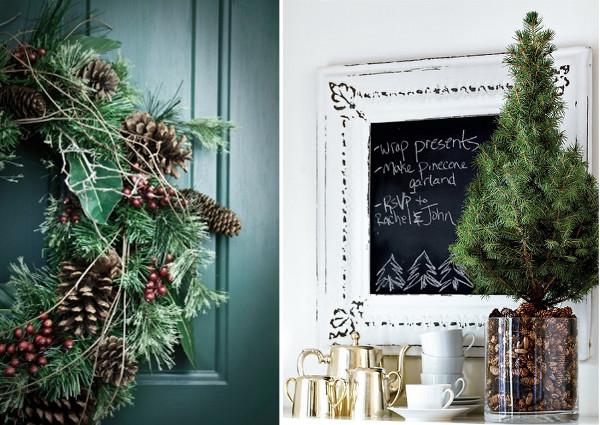 Ideas para decorar con piñas en navidad detalles decorativos