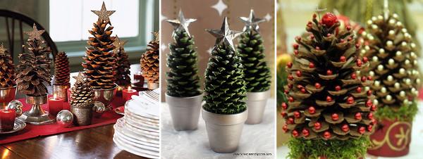 Ideas para decorar con piñas en navidad