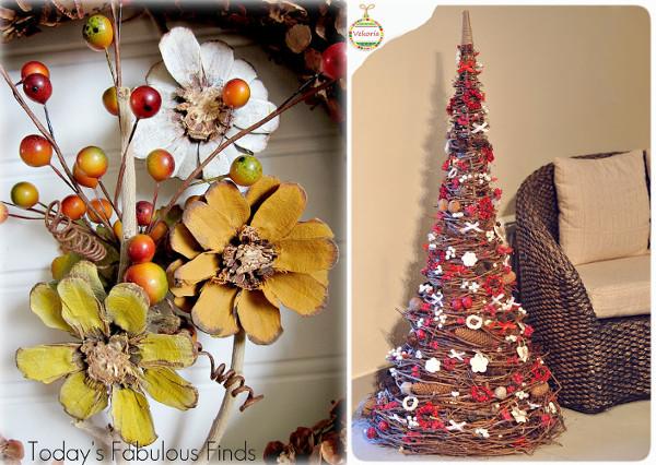 Decorar con pi as ideas de adornos para una navidad - Adornos navidenos artesanales ...