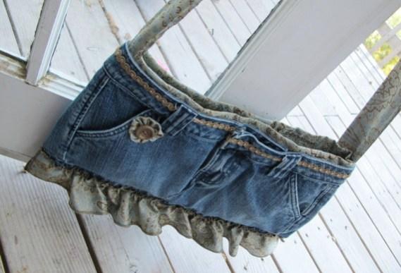 Bolso fácil de jean reciclado