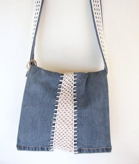 Jean reciclado bolsos crochet