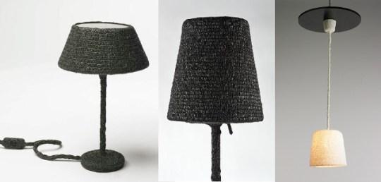 Ideas para reciclar bolsas pantallas de lámparas