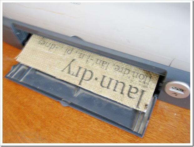 Imprimir sobre arpillera 1