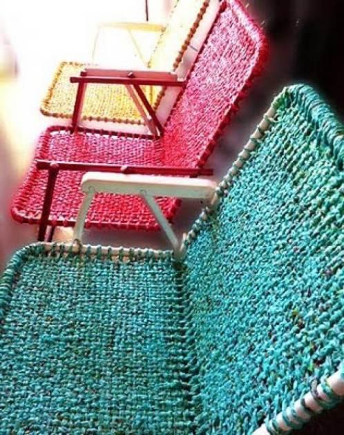 Ideas para reciclar bolsas sillas de jardín