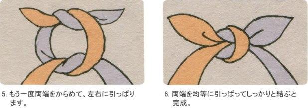 Bolsos furoshiki cómo hacer un nudo
