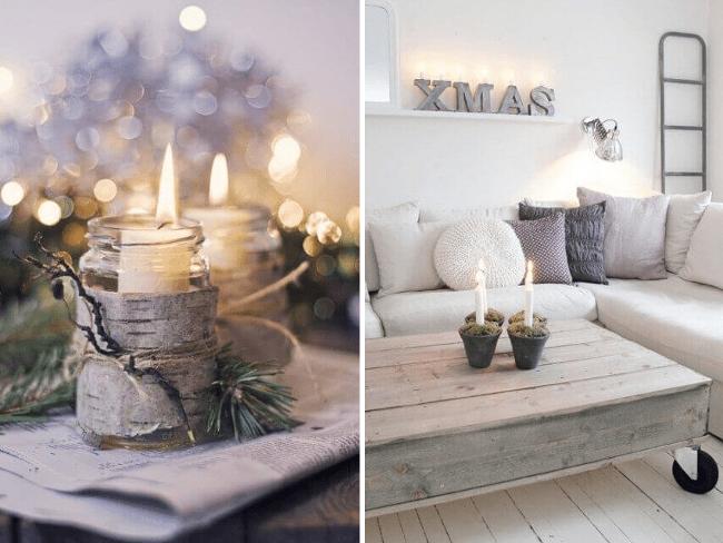 Candelabros naturales para decorar en navidad