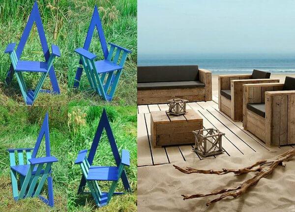 Muebles con palets 70 ideas creativas for Juegos de jardin rusticos