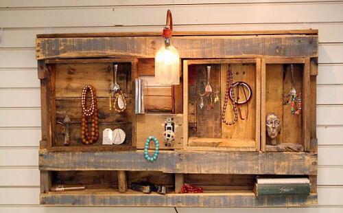 Muebles con palets reciclados 70 ideas creativas - Muebles de aseo ...