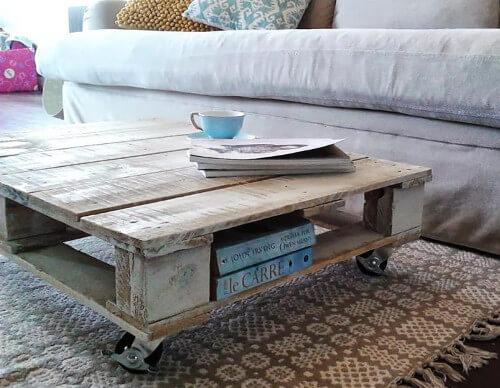 mesa de caf rstica hecha con un palet
