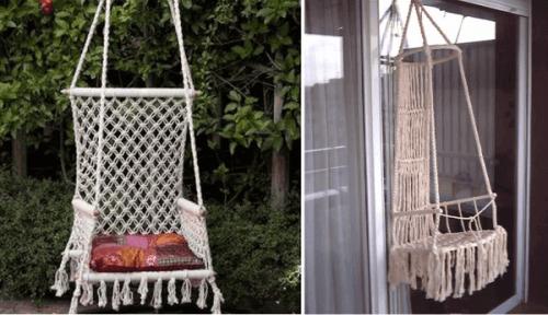 Ideas para decorar con macramé diseños de hamacas originales