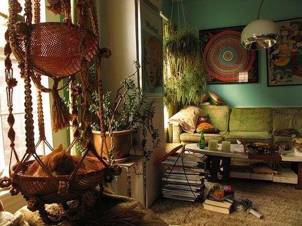 Ideas para decorar con macramé maceteros colgantes y casa de gato