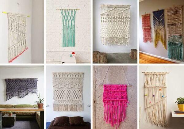Ideas para decorar con macramé modelos de tapices artesanales