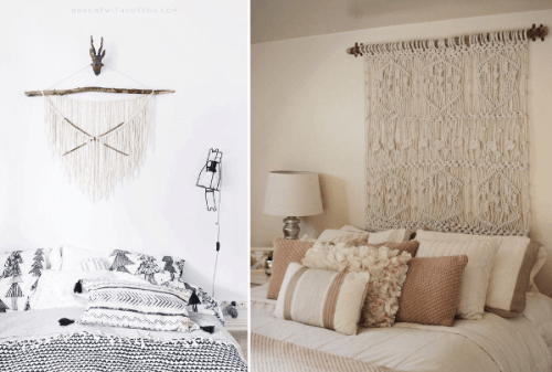 Ideas para decorar con macramé diseños de tapices decorativos