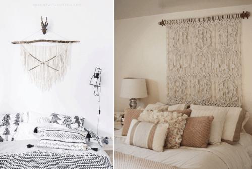 Ideas para decorar con macramé diseños de tapices decorativos
