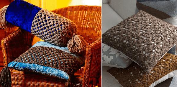 Ideas para decorar con macramé cojines y almohadones