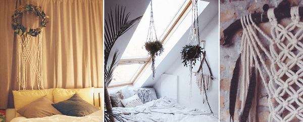 ideas para decorar con macramé