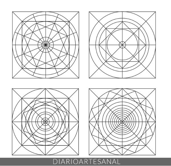 Diseños de plantillas para hacer mandalas