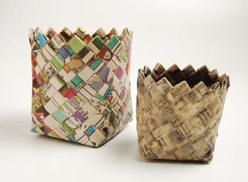 Reciclaje de papel ideas recipientes