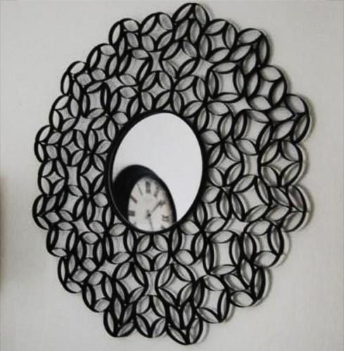 Ideas para reciclar los rollos de papel decoración de espejos