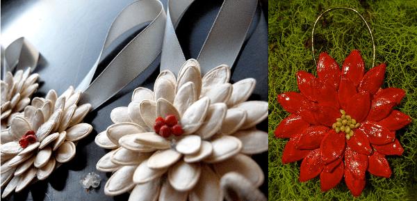 Manualidades con semillas para navidad