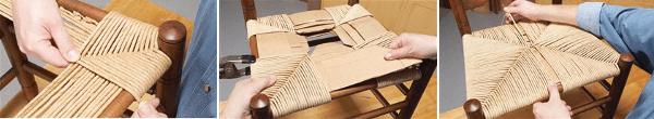 Retapizar muebles con hilo de papel paso a paso