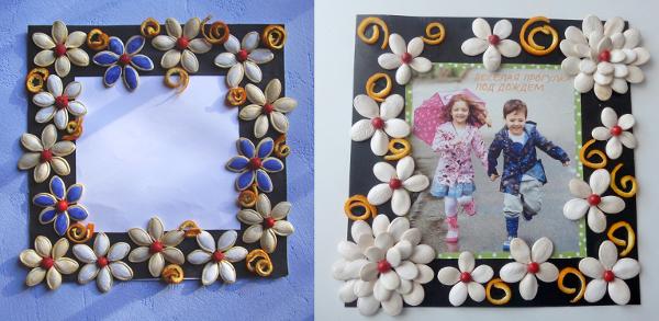 Ideas de manualidades con semillas marco para fotos