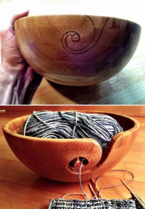 Trucos para tejer dispensador de lana artesanal