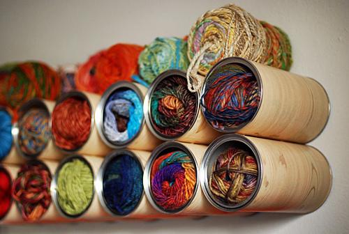 Trucos para tejer idea para organizar las lanas