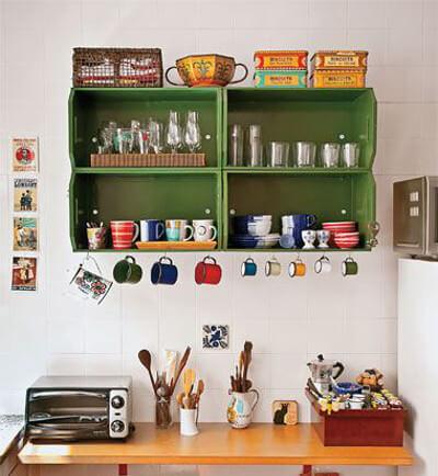 Reciclaje de cajones para la cocina tiles y hermosos - Como hacer estantes de cocina ...
