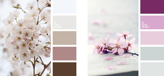Colores vintage paleta violeta