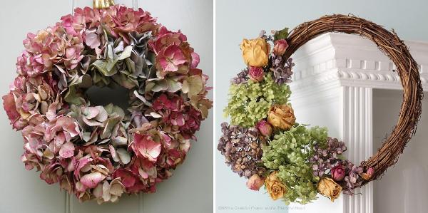 Coronas de hortensias