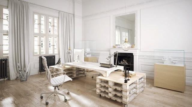 Escritorio con palet y mueble