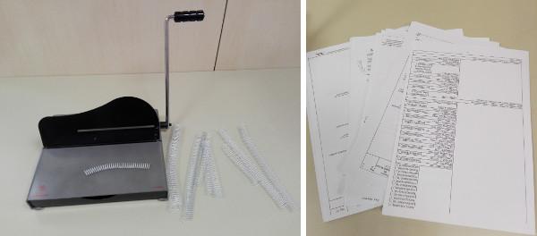 Materiales para hacer un cuaderno espiral reciclado