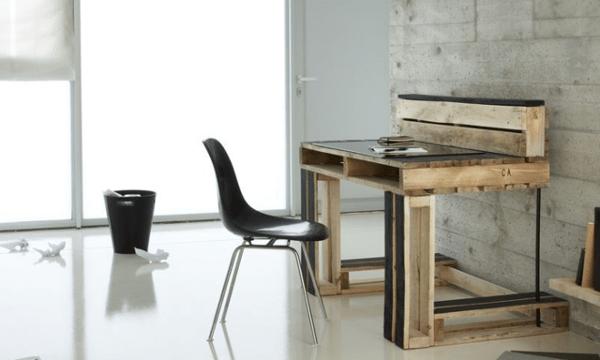 escritorios con palets c mo hacer un escritorio con. Black Bedroom Furniture Sets. Home Design Ideas