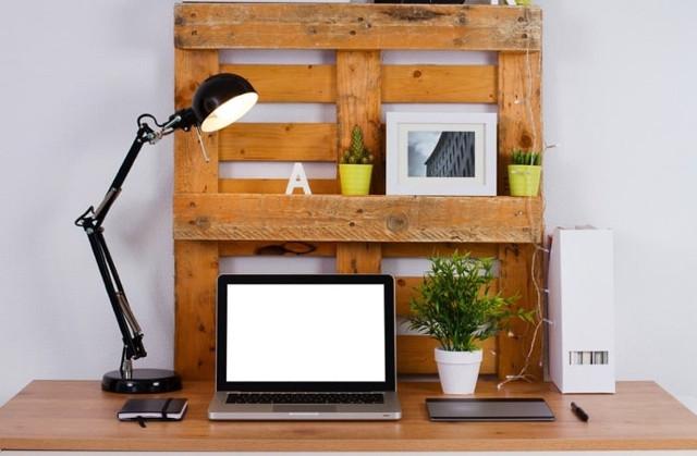 Organizador para el escritorio de palet