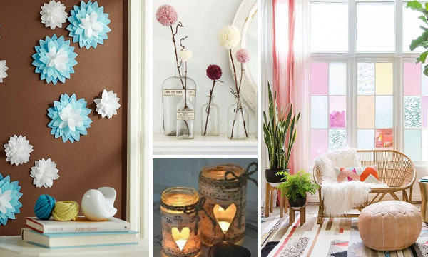 60 manualidades f ciles y originales para decorar tu hogar for Manualidades faciles para decorar la casa