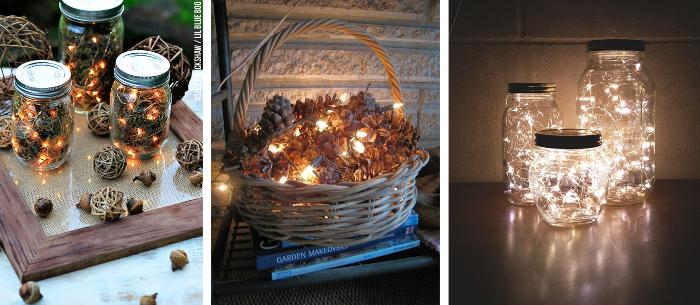 Decoraciones faciles con luces de navidad
