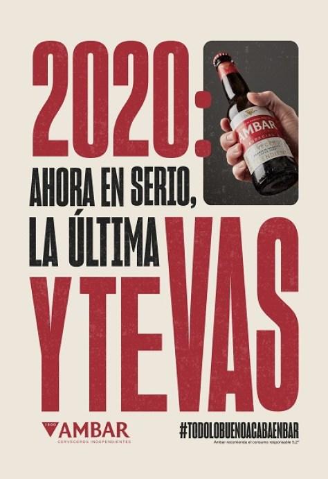 Ambar dice adiós al 2020 calculando las cervezas que nos debe